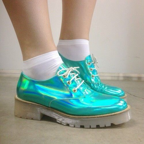 Holographic low-cut Dr Martens