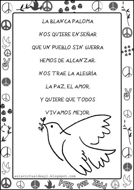 Aula Virtual De Audición Y Lenguaje Dia De La Paz Cuentos Sobre La Paz Poesia De La Paz