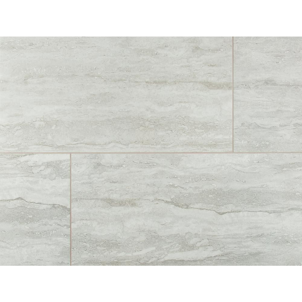 Msi Nyon Gray 12 In X 24 In Polished Porcelain Floor And Wall Tile 16 Sq Ft Case Nhdnyogra1224p The Home Depot Porcelain Flooring Porcelain Tile Bathroom Floor And Wall Tile