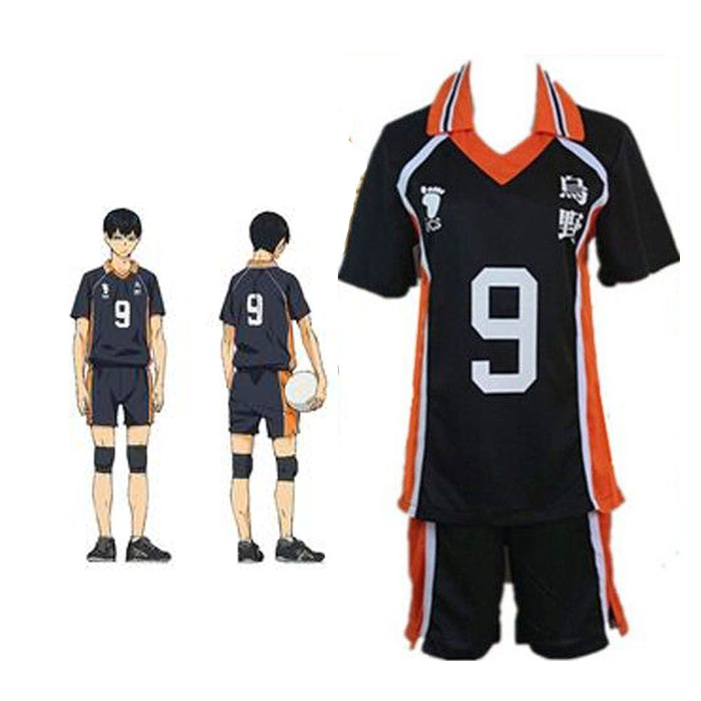 Haikyuu Karasuno Kageyama No 9 Jersey Volleyball Uniform Cosplay Costum Usa Ship Rolecos Completeoutfit Complete Outfits Volleyball Uniforms Sportswear