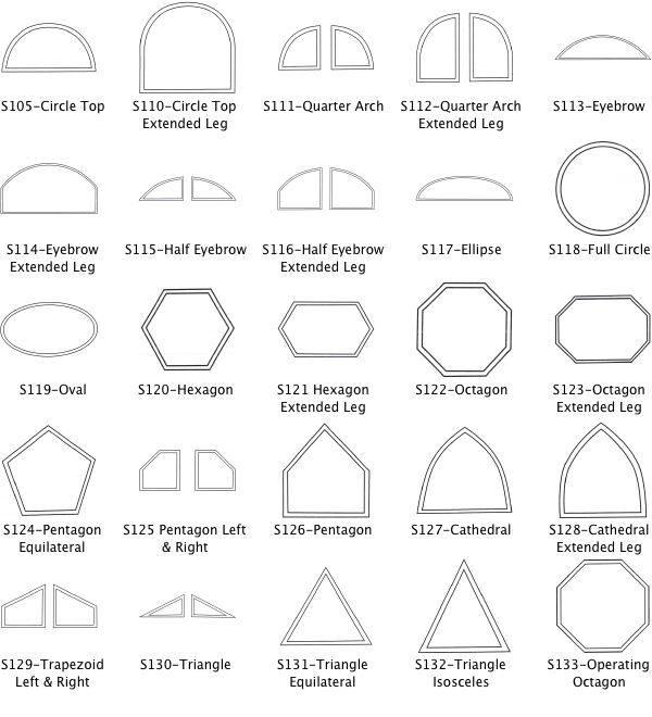 Shape Windows Codes And Titles Architectural Sketches