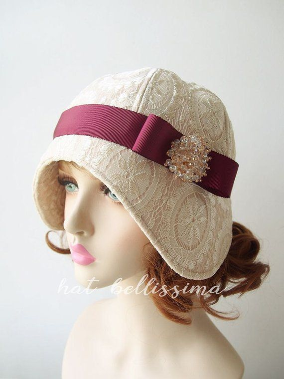 SALE Ivory color 1920 s Cloche Hat Vintage Style hat winter Hats  hatbellissima ladies hats milliner a35110b7780