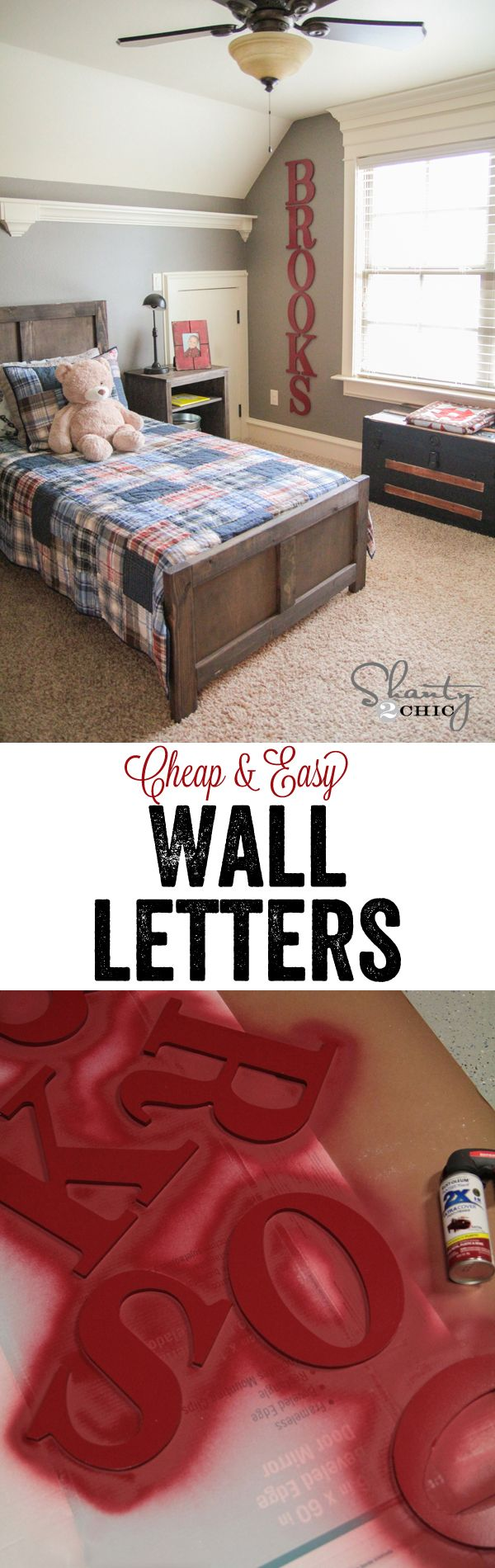 Super Cute Amp Easy Wood Letters Shanty S Tutorials