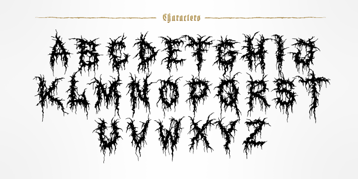 Tattoo black metal font Earth Crisis