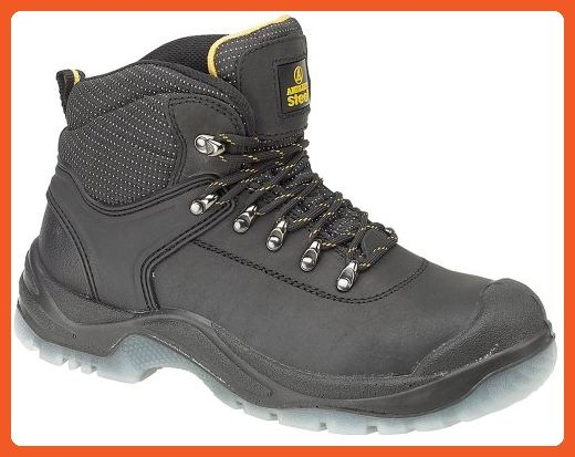 Amblers Safety FS45 Mens Steel S1 Safety Shoes Black 45 Iui0jHr