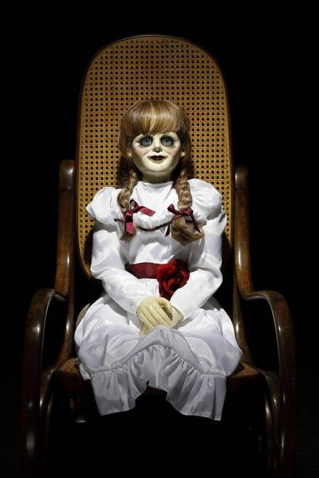 ANNABELLE CREATION Life Size Movie Prop Doll | Horror Collectibles