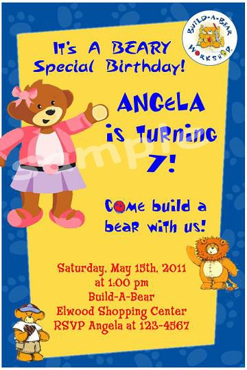 Download Free Template Build A Bear Birthday Invitations Bagvania