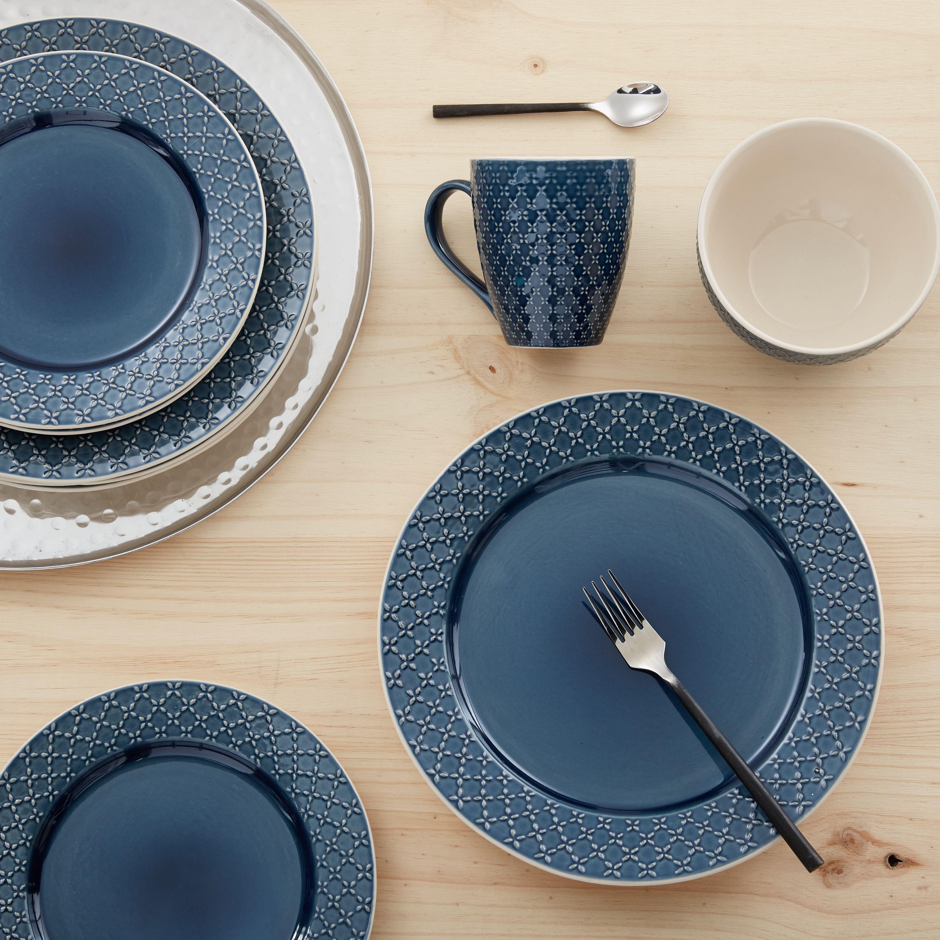 Jasmine Assiette Dessert En Gr S Bleu Tendance Boh Me D20cm  # Rangements Assietes Modernes