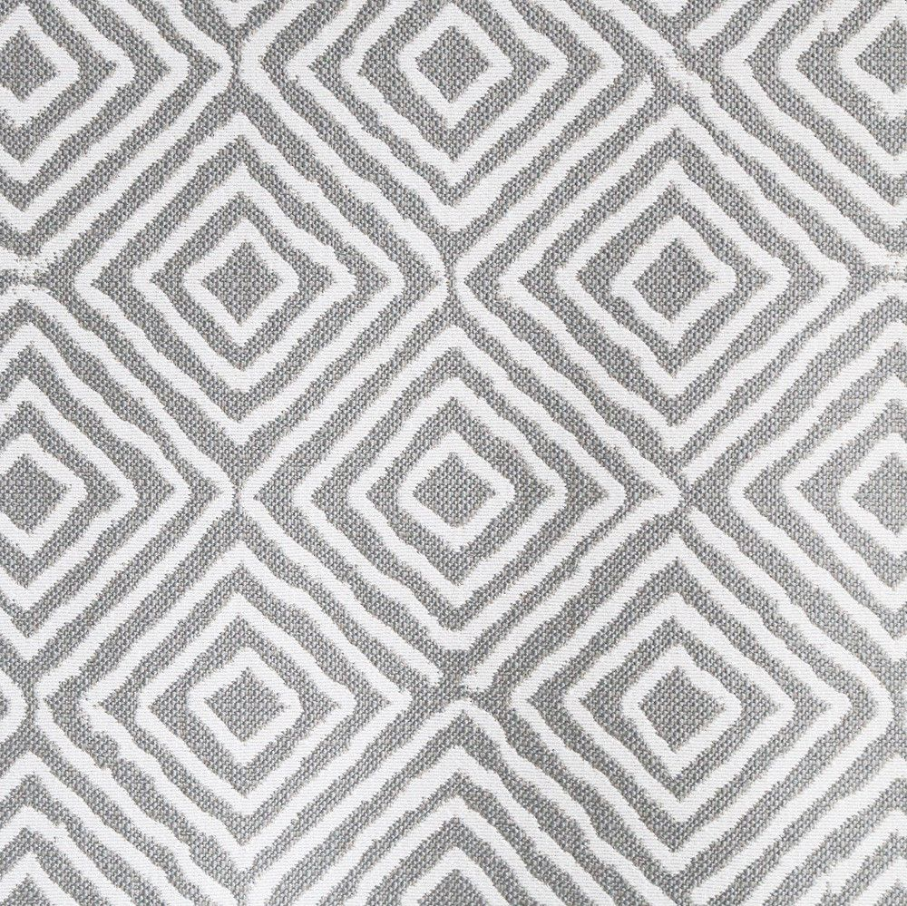 An Upholstery Diamond Patterned Fabric In Grey This Fabric Is