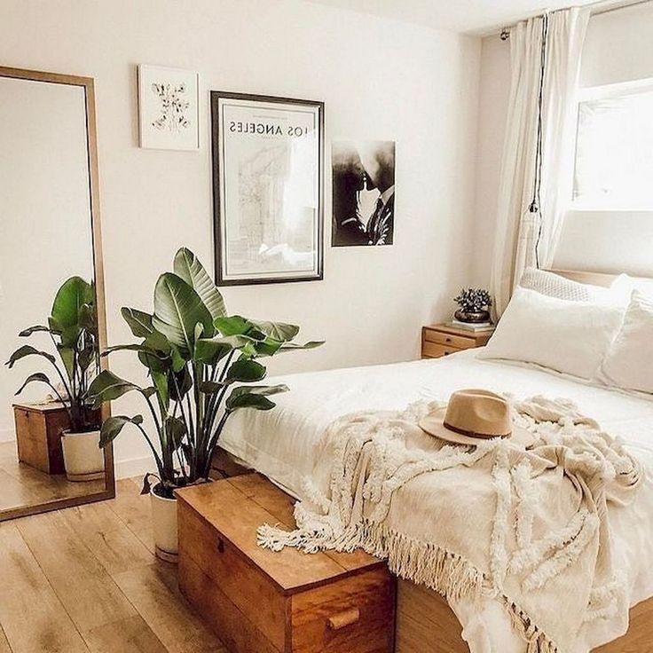 Plus de 49 idées de décoration de chambre à coucher dans un appartement, style Boho