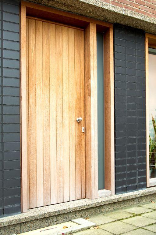 Wonderlijk Deur hout Materiaal: Afzelia Hout (blokkader ramen) Kleur YA-94