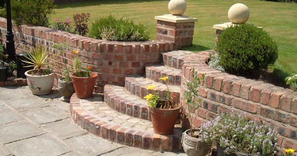 Red Brick Retaining Wall For Around Trees In The Front But Want
