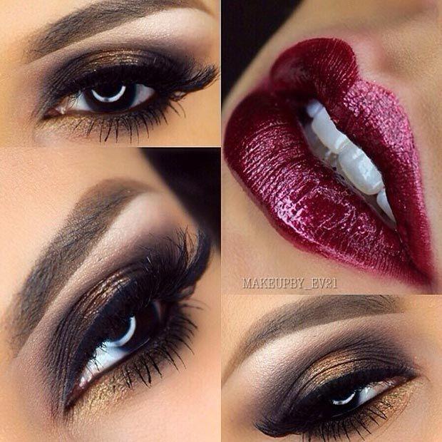 Purple Matte Smokey Eye Instagram / makeupby_ev21 Purple truly makes brown eyes look stunning, regardless of hair or skin color. To recreate this look use ' ...