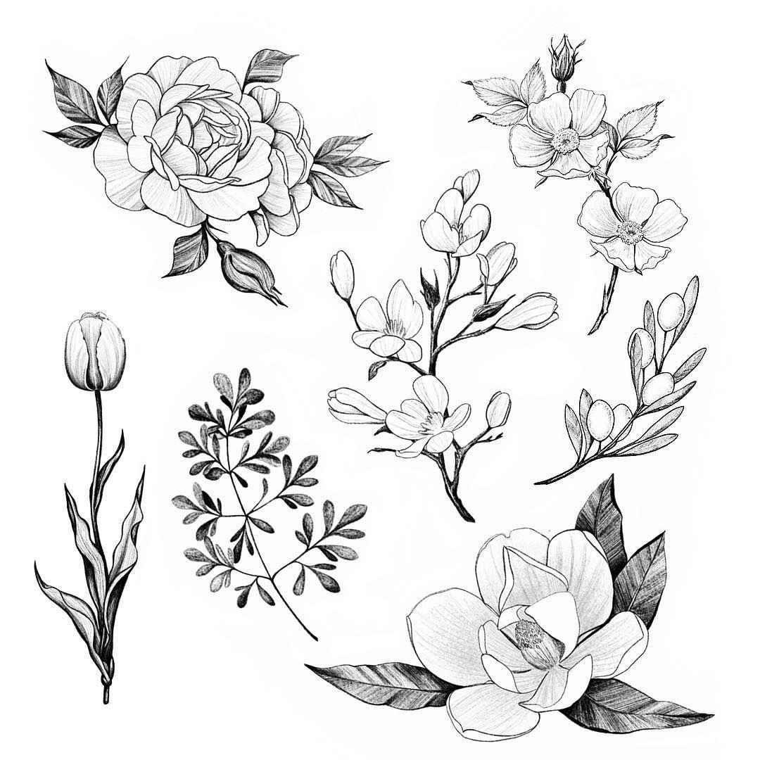 Тату рисунки эскизы цветы