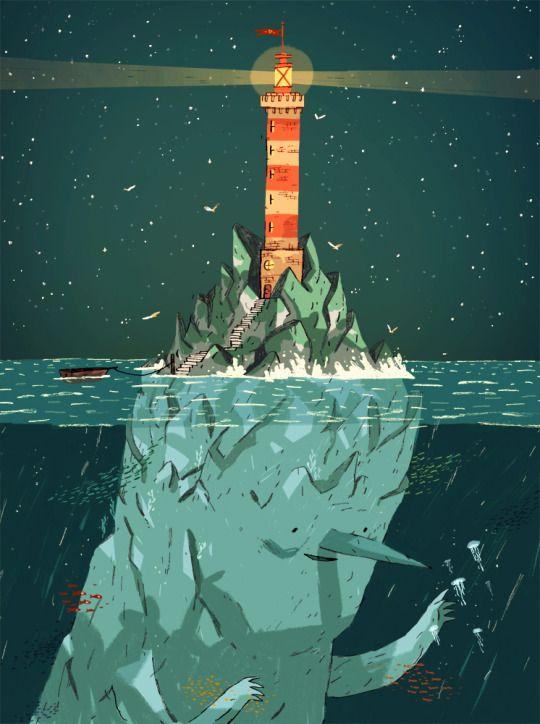 light house illustration - Joe Todd-Stanton