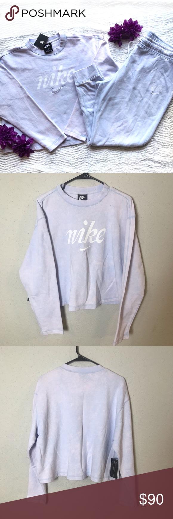 Nike W Nsw Crew Crop Sweatshirt Joggers Set 1x In 2020 Crop Sweatshirt Jogger Set Sweatshirts [ 1740 x 580 Pixel ]
