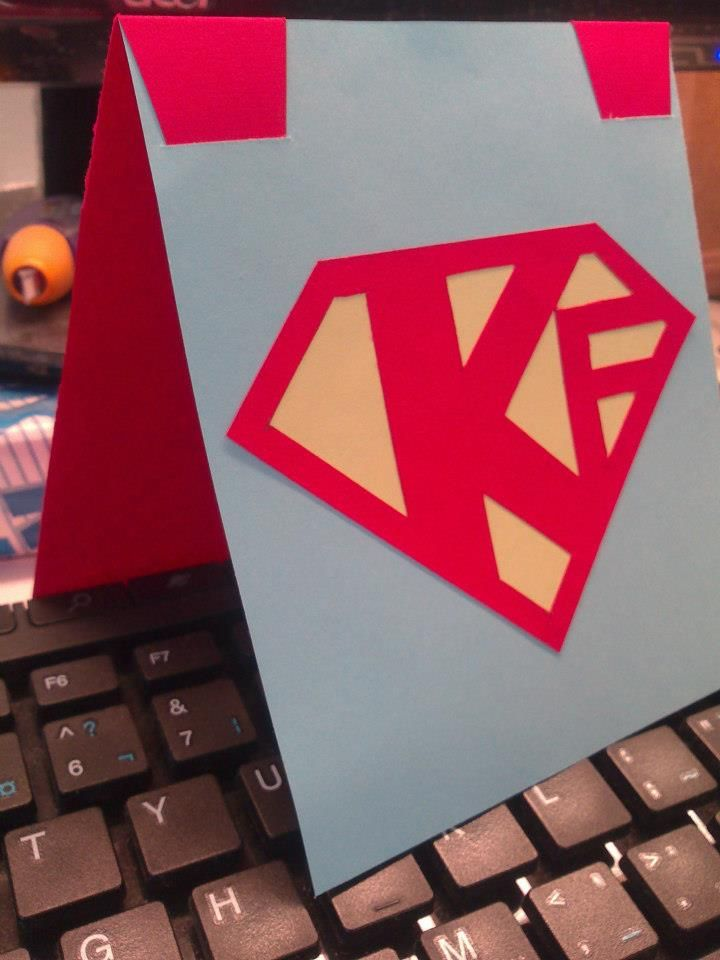Diy Birthday Card Crafty Paper Project Easy Superman Trying To Be