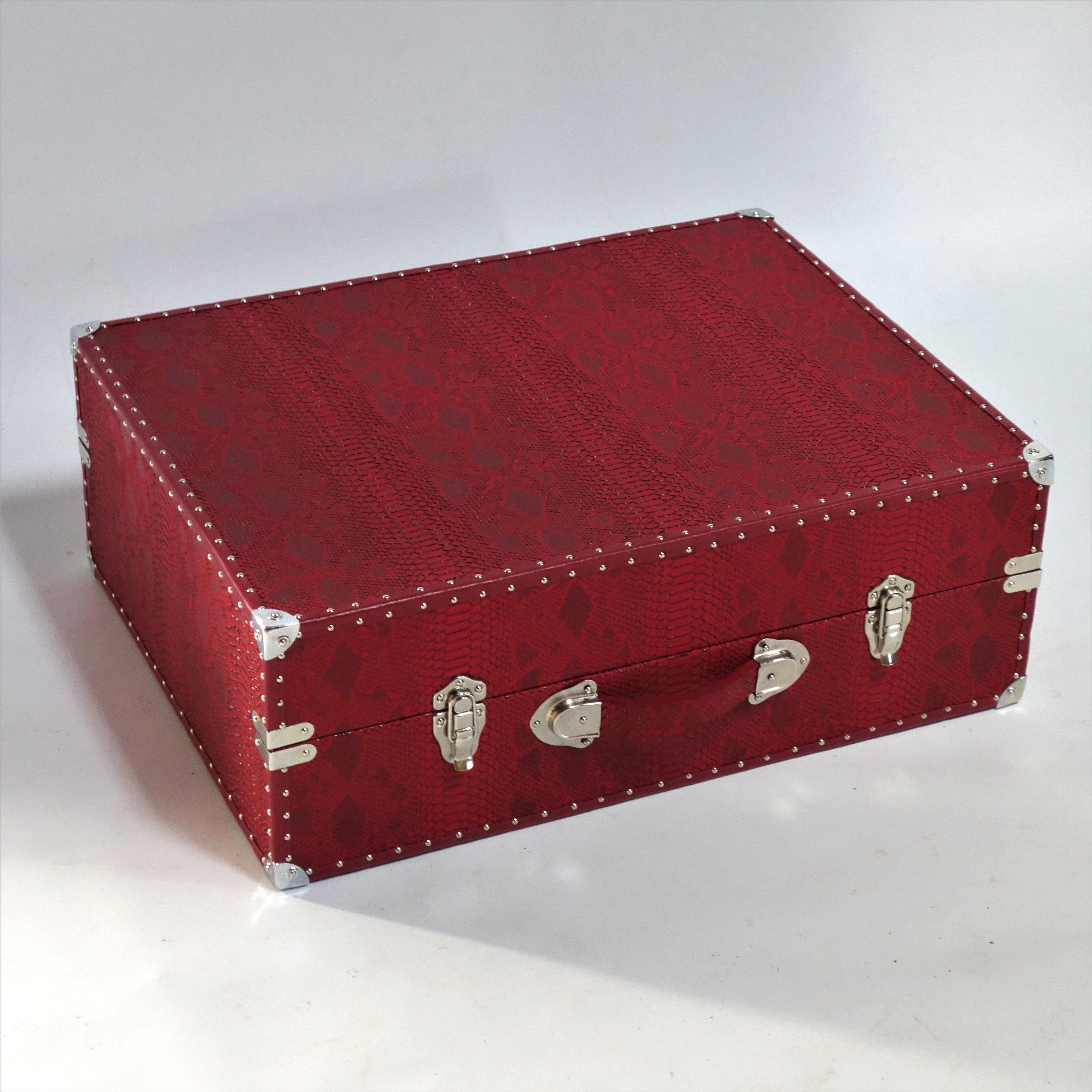 Hand made luxury snakeskin dog bed travel case by The