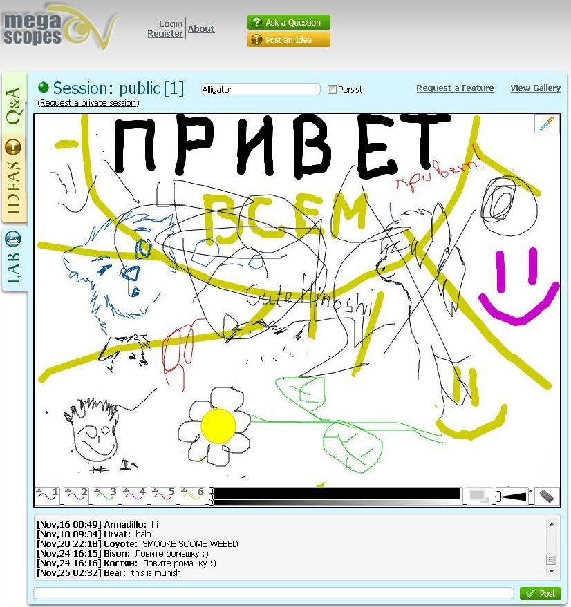 online Interactive Whiteboard http//whiteboard.megascopes