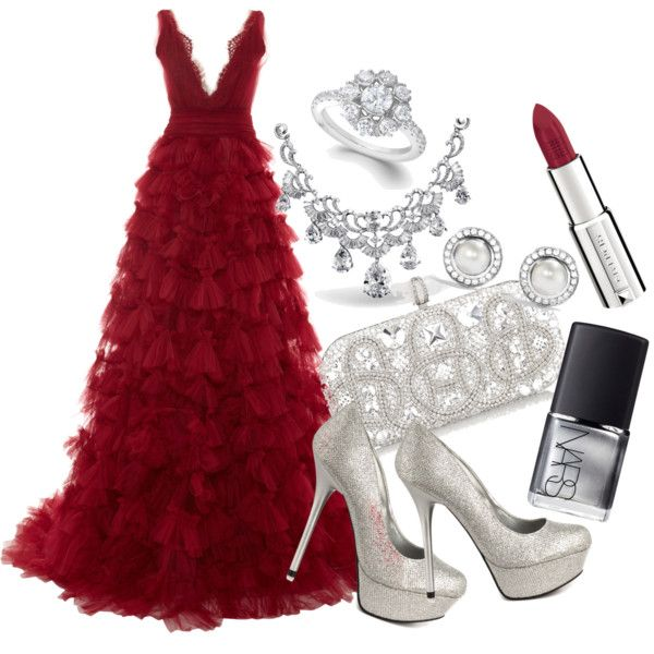 """""""red carpet look"""" by maddyhaylock on Polyvore"""