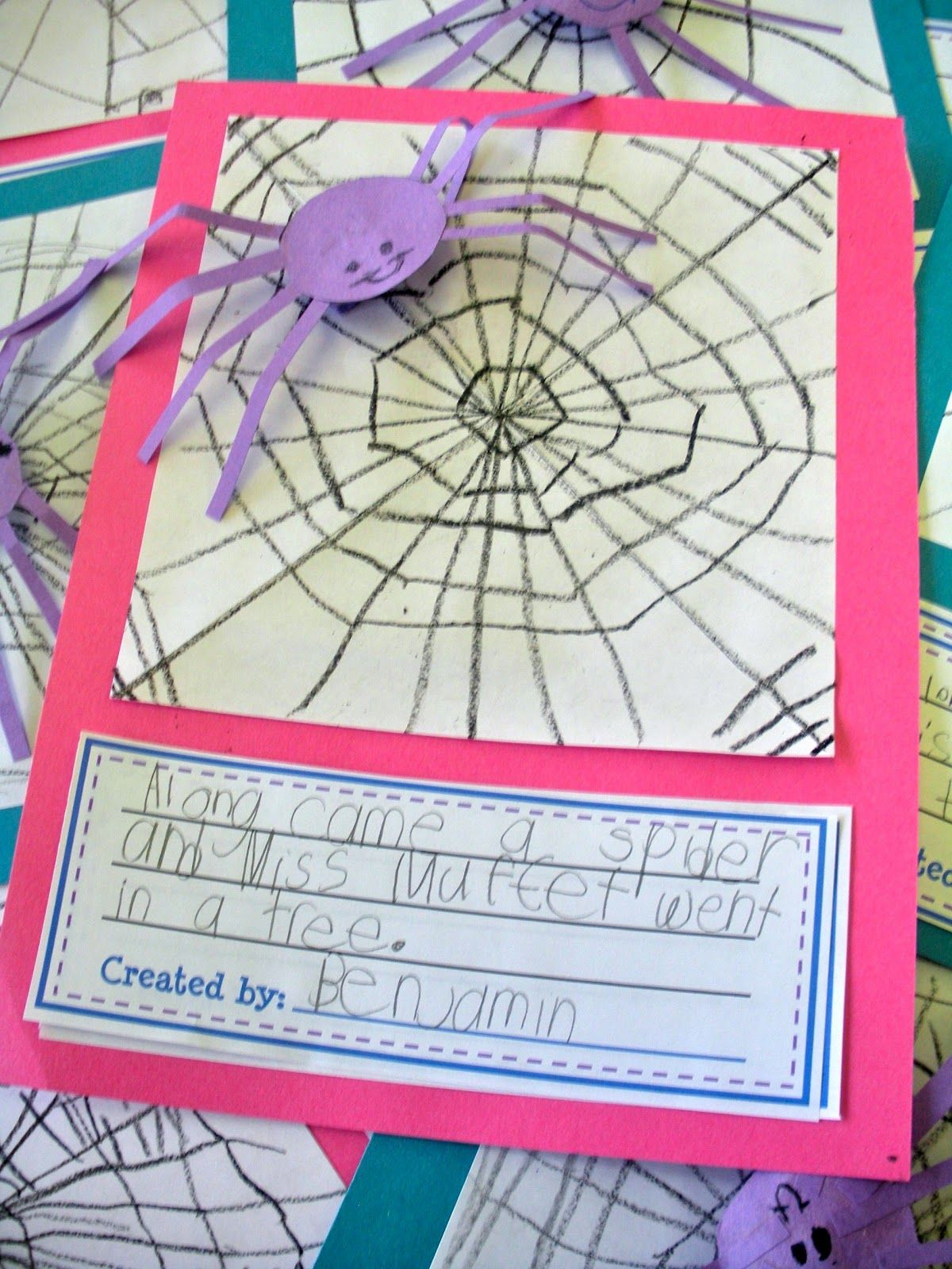 Little Miss Muffet Drawing And Free Writing Printable