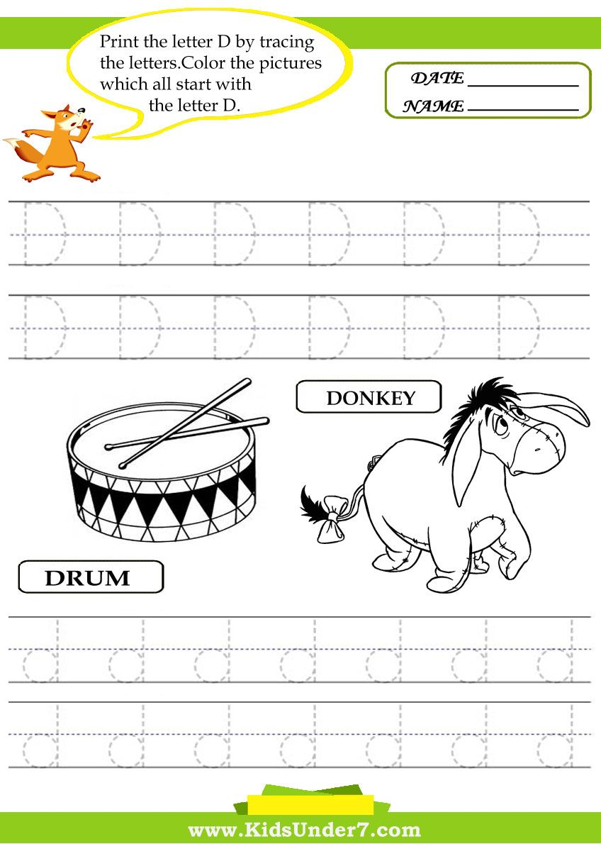 Traceable Alphabet Worksheets Trace And Print Letter D Teach Children To Write The Letters Of The Alphabet Trace A Lettering Letter D Alphabet Worksheets
