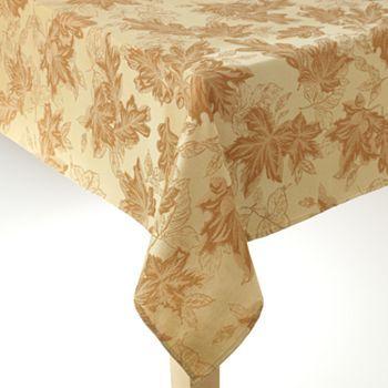 Croft and Barrow Textured Leaf Tablecloth - 60'' x 144'' Oblong