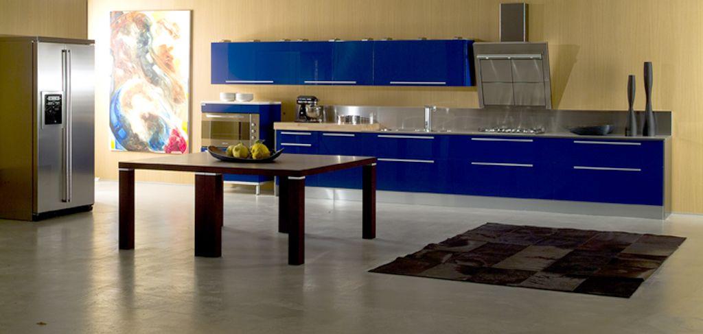di Iorio cucine blue kitchen | That\'s a KITCHEN??? | Pinterest ...