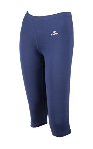 X-Prin A603 Womens Lady Capri Cropped Pants Base Layer Compression Sports Wear (Large)