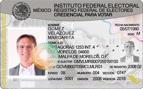 The Federal Electoral Institute Spanish Instituto Federal Electoral Ife Was An Autonomous Public Organization Id Card Template Card Printer Card Template