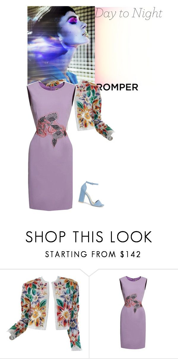"""""""Day to Night"""" by vallyk ❤ liked on Polyvore featuring Naeem Khan, Nly Shoes, DayToNight and romper"""