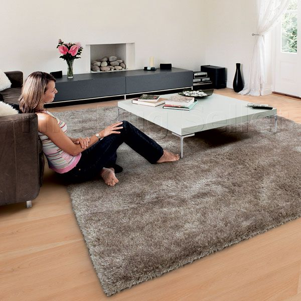 lounge room rug color coffee - Fluffy Rugs
