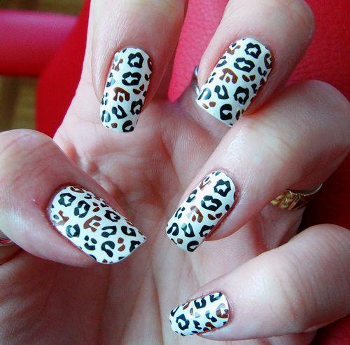 Cute Acrylic Cheetah Nails Tumblr