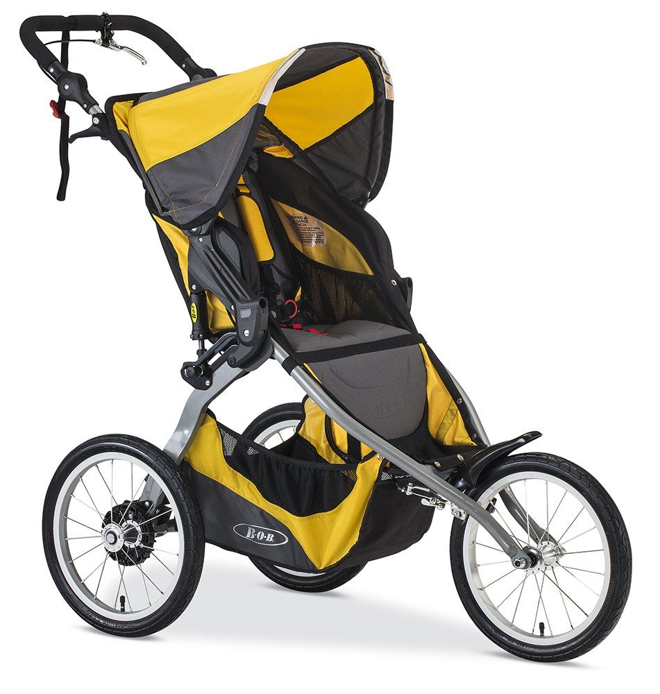 BOB 2016 Ironman Stroller, Yellow. Fixed front wheel provides ...