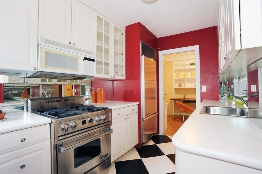 mostly white. not this floor. no red. | Kitchen, White ...