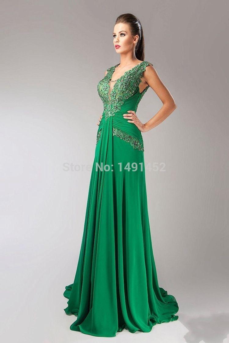 ad088042454 Robe longue verte emeraude