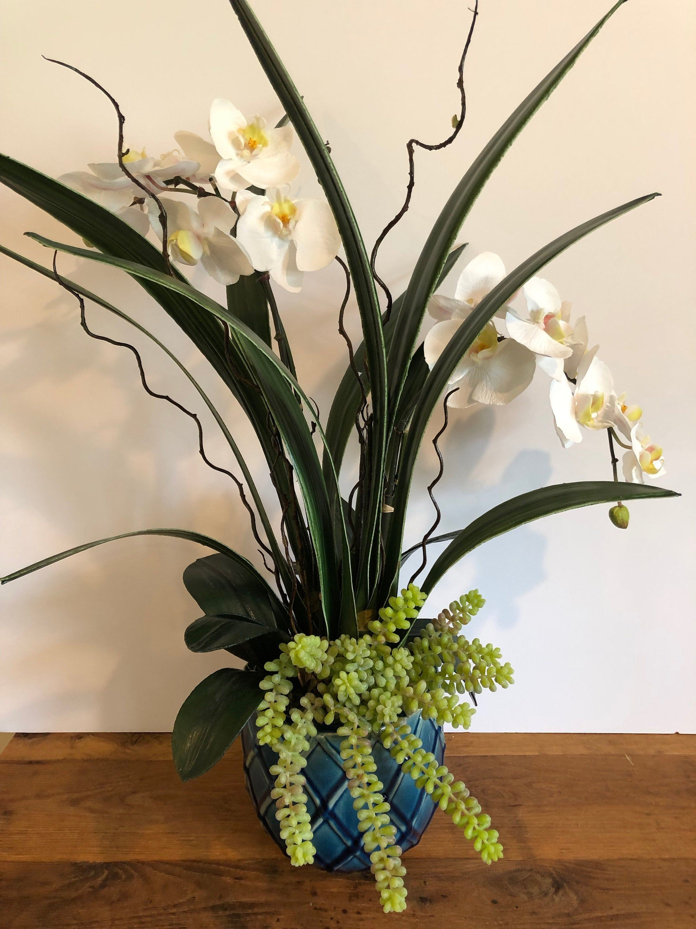 how to make silk orchid arrangements