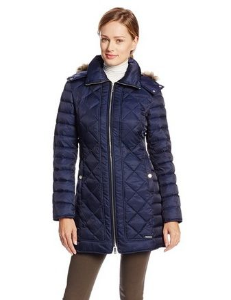 nice Women's Diamond-Quilted Down Coat - For Sale