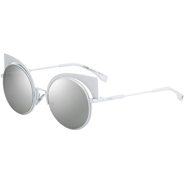 c90376d1a3 Fendi Runway Mirrored Cutout Sunglasses ( 590) ❤ liked on Polyvore  featuring accessories