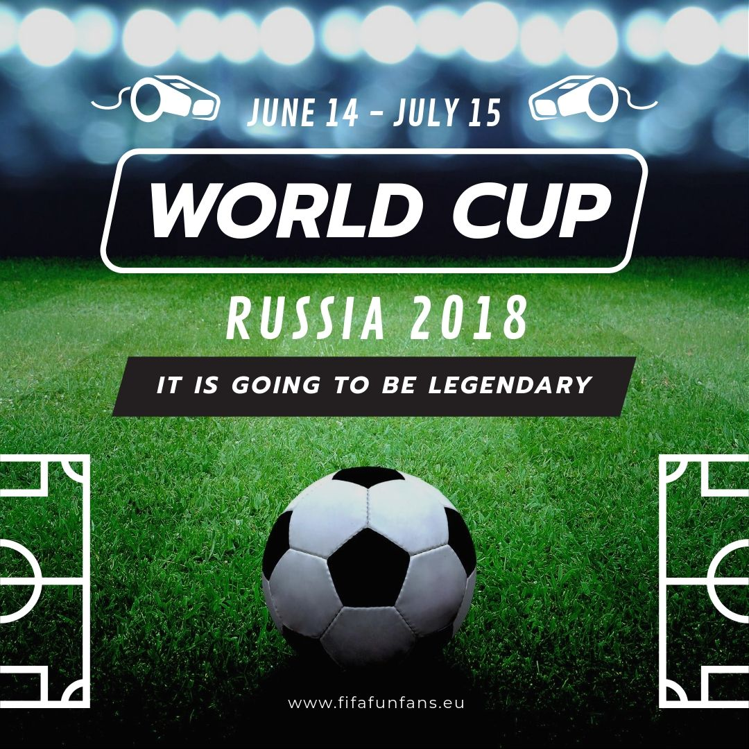 Free Templates For The Fifa World Cup 2018 Free Templates Fifa Football Match Russia Social Media Facebook Twi World Cup Team Player Making The Team