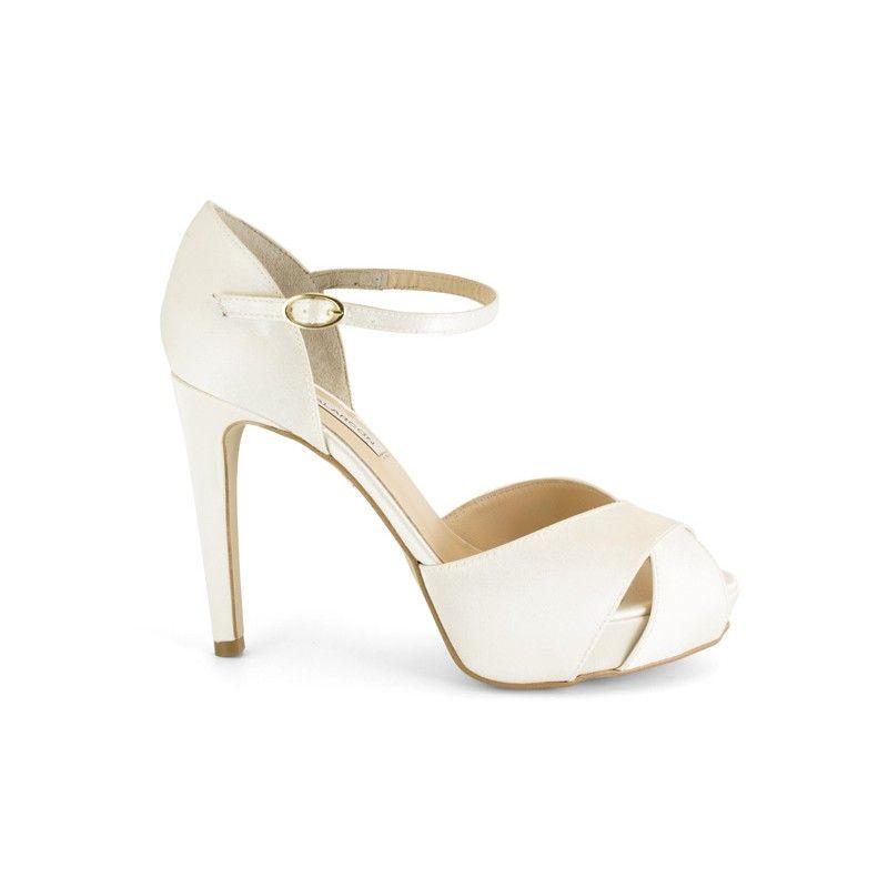 a4496e61 14511-513B Zapato de novia color hueso - Ángel Alarcón   zapatos ...