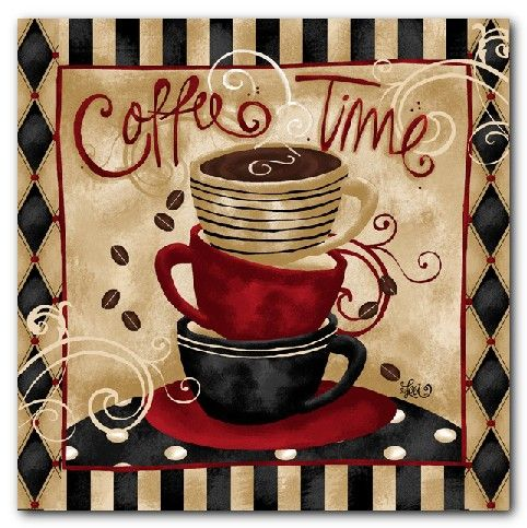 coffee cup shop cafe art prints - kitchen wall decor! - thinking i