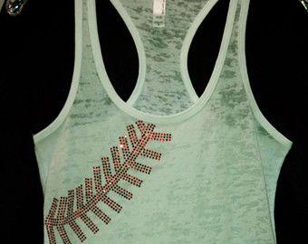 Baseball / Softball Laces rhinestone bling tank