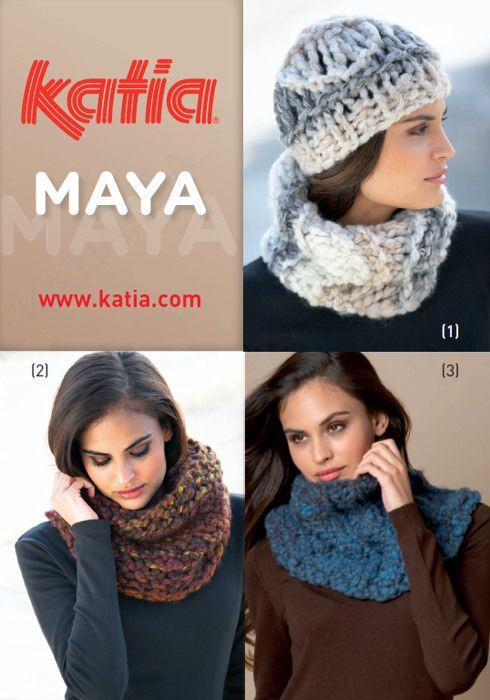 Katia maya, otra opcion para hacer la bufanda, o la colcha