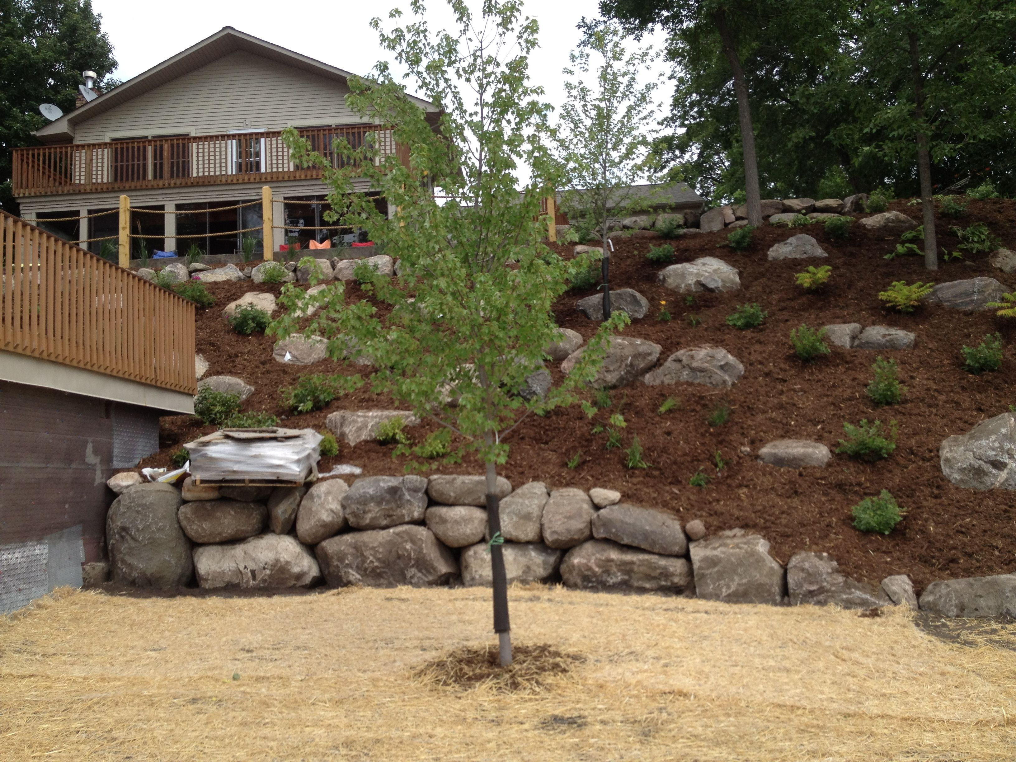 Our Work | Large backyard landscaping, Steep hill ... on Steep Hill Backyard Ideas id=93012