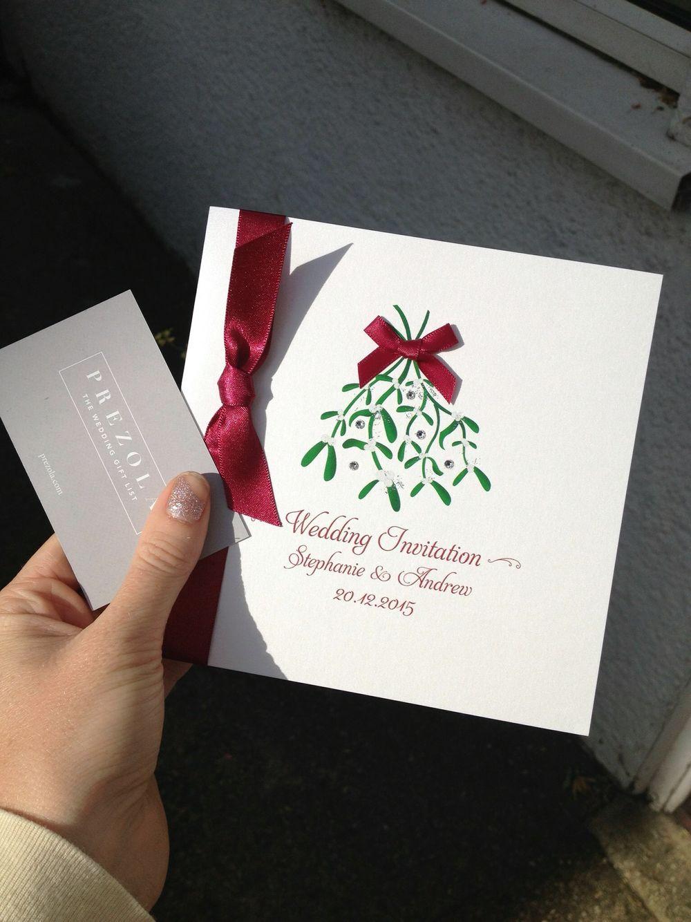 Mistletoe wedding invites thanks to The Wedding Invitation Boutique ...