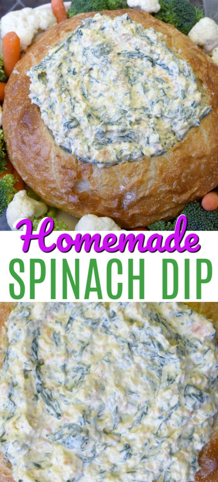 The Best Spinach Dip Recipe with Fresh Ingredients