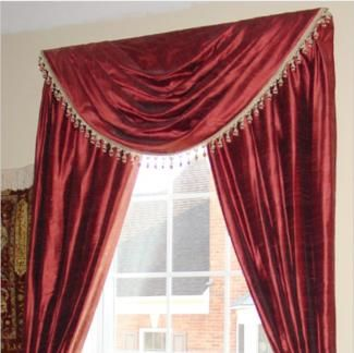 How To Make Traditional Swag Curtains Swag Curtains Curtains
