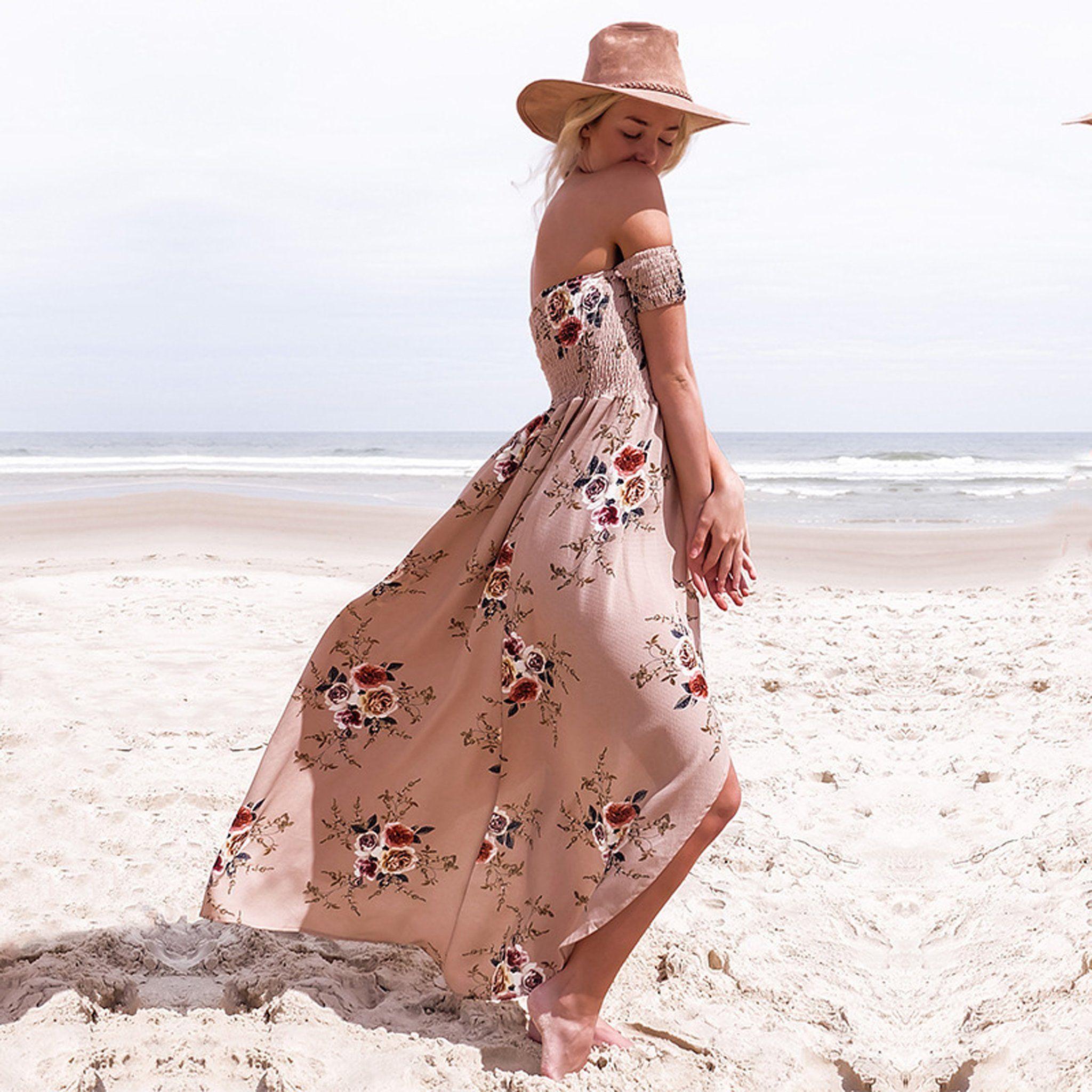 Paisley Boho Vintage Floral Off The Shoulder Drape Maxi Dress Drape Maxi Dress Boho Fashion Summer Beach Shoulder Drape [ 2048 x 2048 Pixel ]