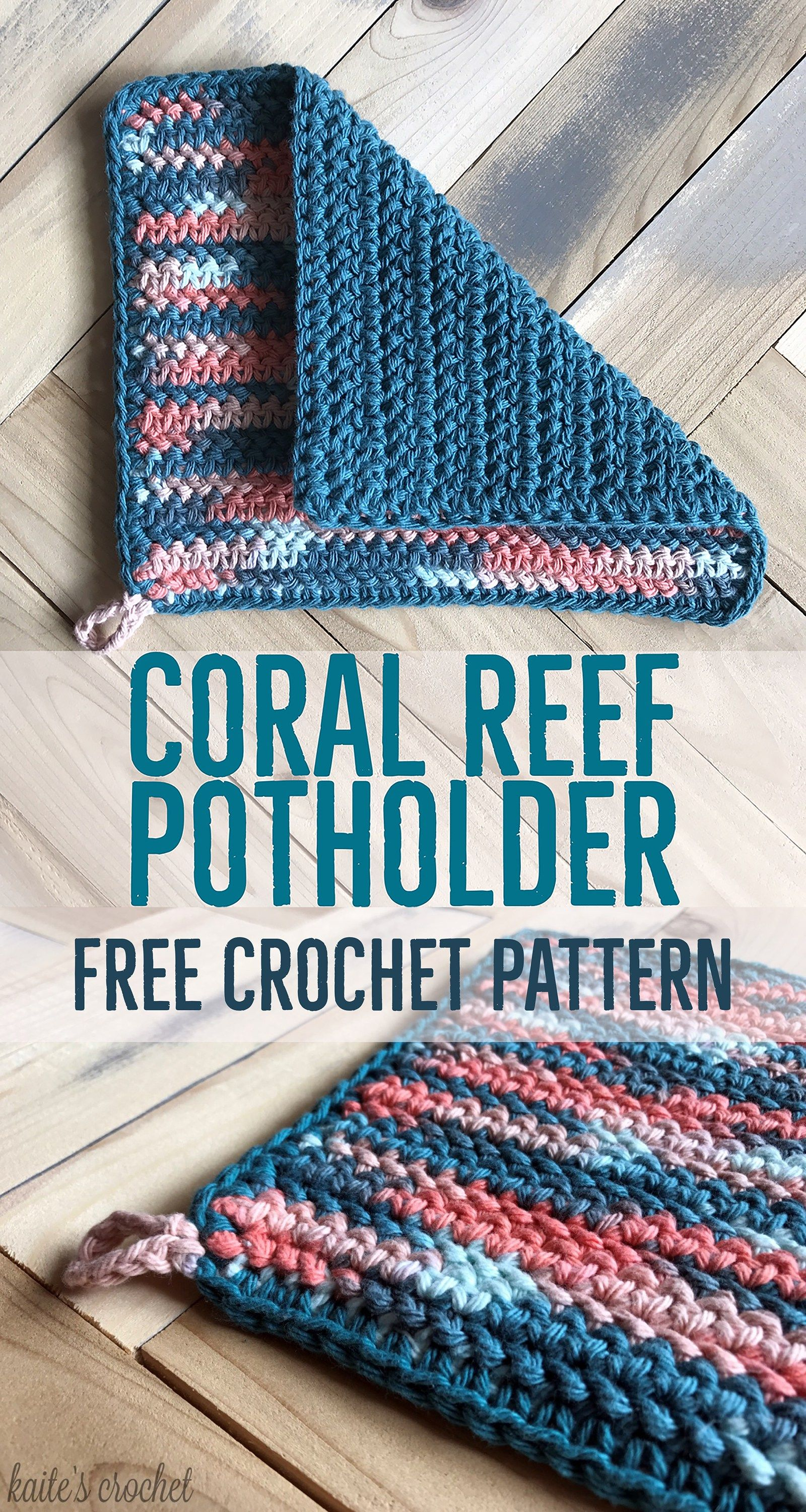Coral Reef Potholder - Free Crochet Pattern from Kaite\'s Crochet, A ...